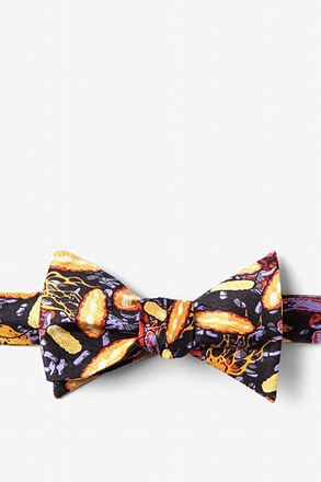 _Foodborne Six Black Self-Tie Bow Tie_