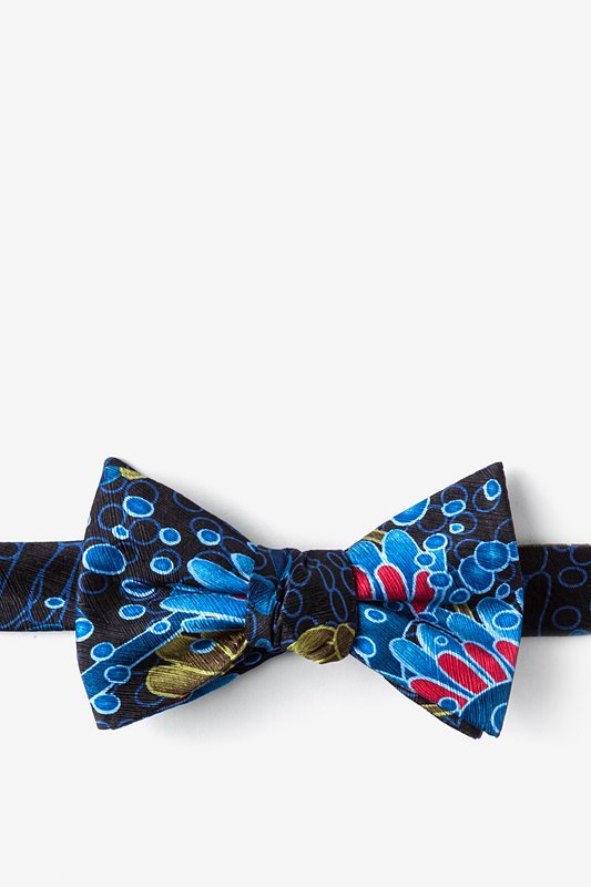 Fungi/Mold Black Self-Tie Bow Tie