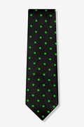 Green Polka Dot Extra Long Tie
