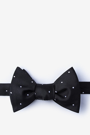 _Griffin Black Self-Tie Bow Tie_