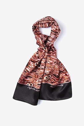 _Heart Health Black Oblong Scarf_