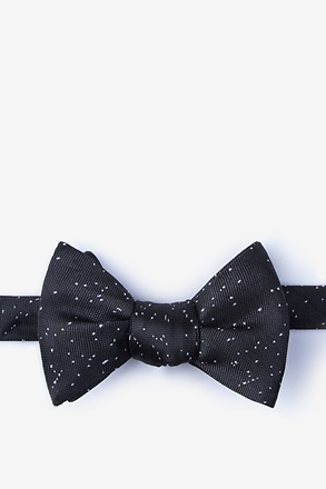 Iceland Black Self-Tie Bow Tie
