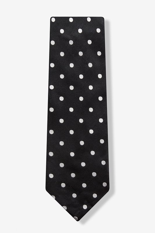Ivory Polka Dot Extra Long Tie