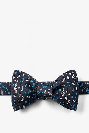 Lookin' Sharp Black Self-Tie Bow Tie