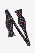 Mardi Gras Masquerade Black Self-Tie Bow Tie Photo (1)