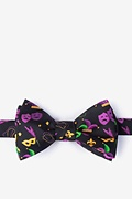 Mardi Gras Masquerade Black Self-Tie Bow Tie Photo (0)