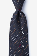 Black Silk Medieval Weaponry Tie