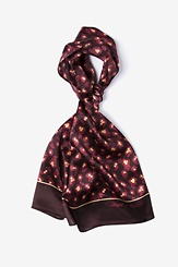 Black Silk MRSA Oblong Scarf