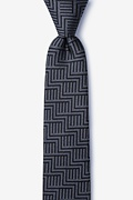 Black Silk Pearch Skinny Tie