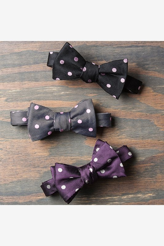 Pink Polka Dot Butterfly Bow Tie