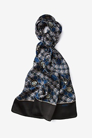Black Silk Polio Plus Oblong Scarf