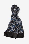 Polio Plus Black Oblong Scarf by Infectious Awareables