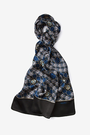_Polio Plus Black Oblong Scarf_