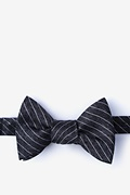 Black Silk Robe Self-Tie Bow Tie