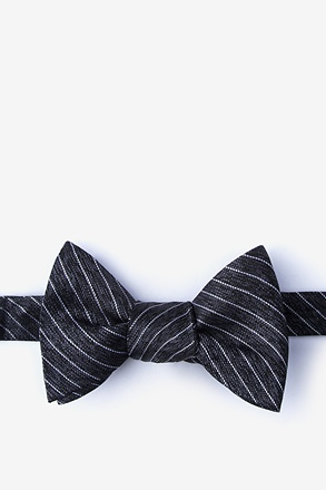 _Robe Black Self-Tie Bow Tie_