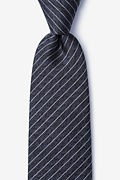Black Silk Robe Tie