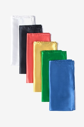 Satin Silk Pocket Square Pack