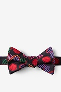 Black Silk Swine Flu H1N1 Self-Tie Bow Tie