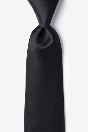 "_The Essential Black 3"" Extra Long Tie_"