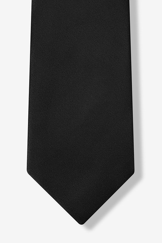 The Essential Black Extra Long Tie Photo (4)