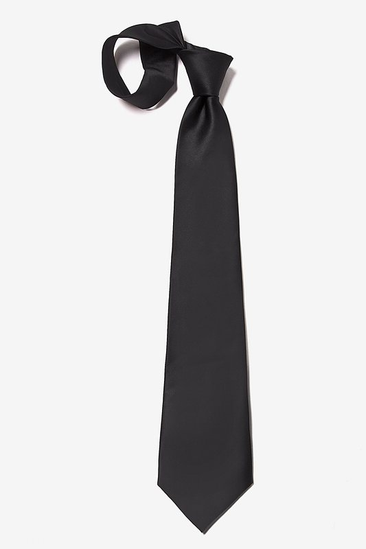 The Essential Black Extra Long Tie Photo (3)