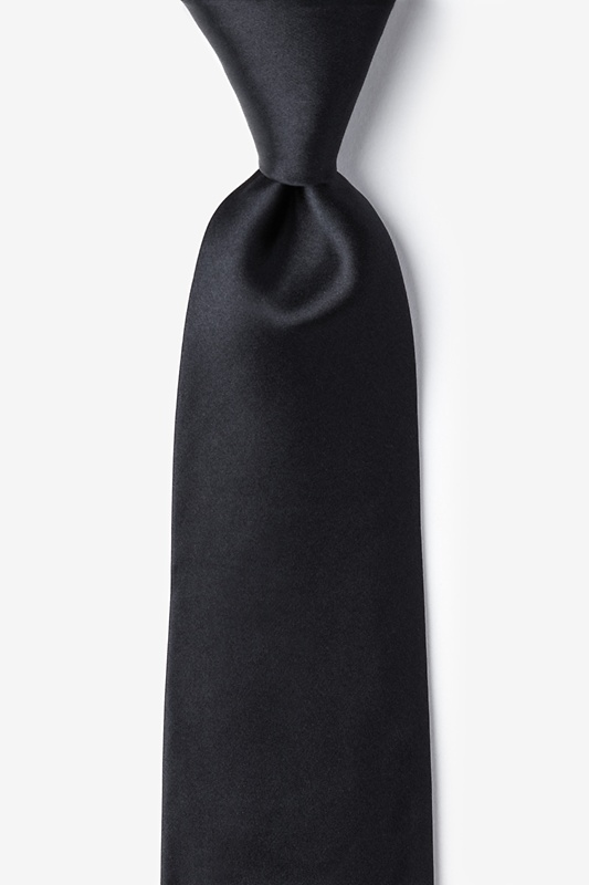 The Essential Black Extra Long Tie Photo (0)