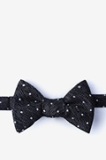 Black Silk Tully Bow Tie