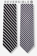 Two Sided Stripe and Check Tie