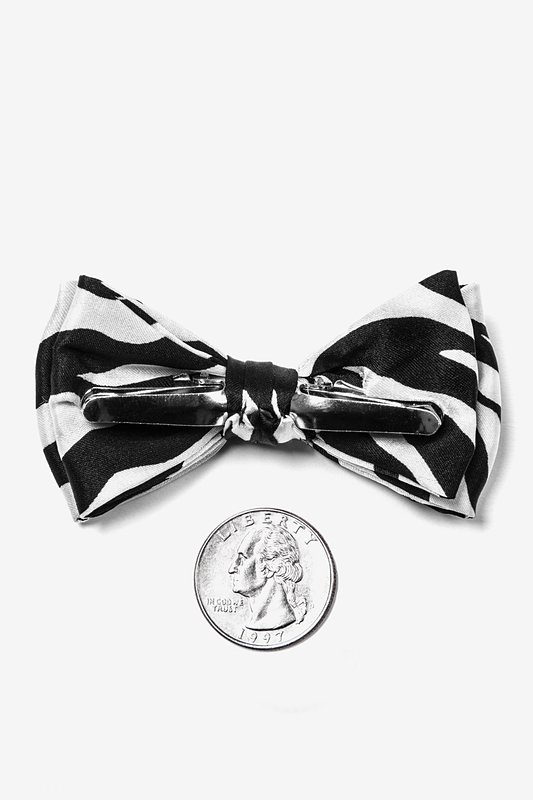 Zebra Print Bow Tie For Infants