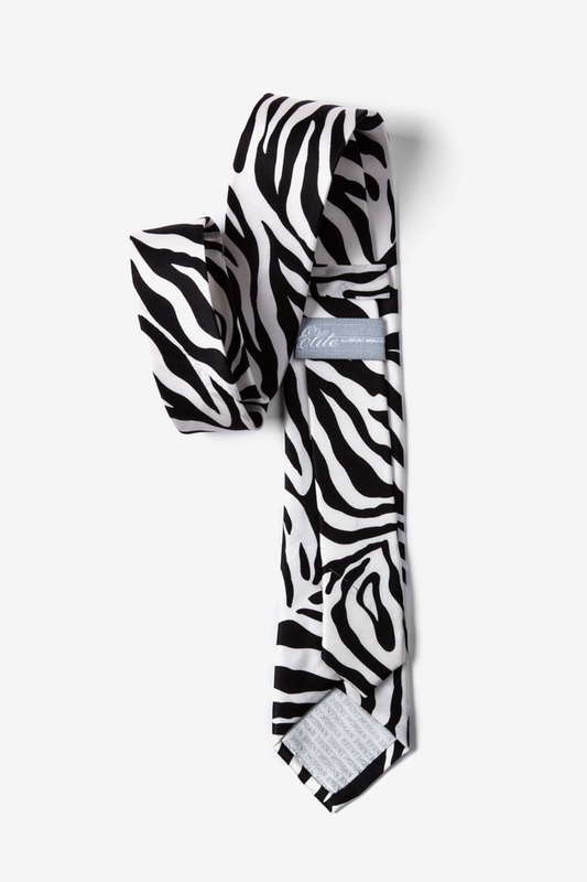 Zebra Print Black Tie For Boys Photo (1)