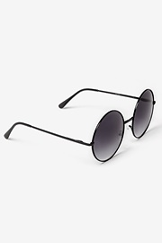 Black Smoke Acetate Penny Sunglasses