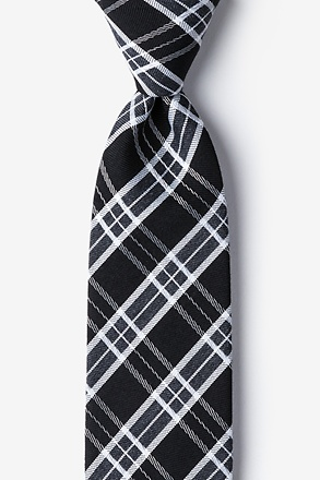 Black Vienna Plaid Tie
