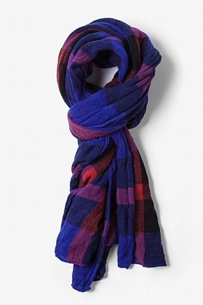 Blue Anchorage Tartan Scarf