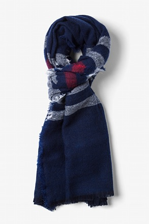 Blue Atlanta Stripe Scarf