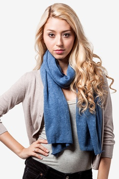 Heathered Solid Knit Scarf