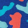 Blue Carded Cotton Abstract Camouflage Sock