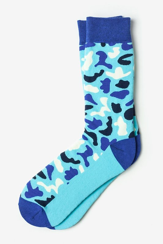 Abstract camouflage Blue Sock Photo (0)