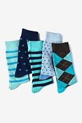 Blue Carded Cotton Aristotle Sock Pack