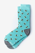 Blue Carded Cotton Bee Yourself Women's Sock
