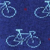 Blue Carded Cotton Bicycles Sock