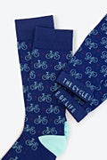 Bicycles Blue Sock Photo (1)