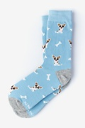 Blue Carded Cotton Bone Appetit Women's Sock