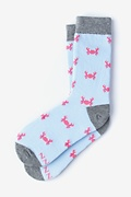 Blue Carded Cotton Don't Be Shellfish Women's Sock