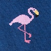 Blue Carded Cotton Flamingo Sock