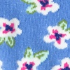 Blue Carded Cotton Garden Grove Floral Sock