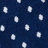 Blue Carded Cotton Laguna Polka Dot No-Show Sock