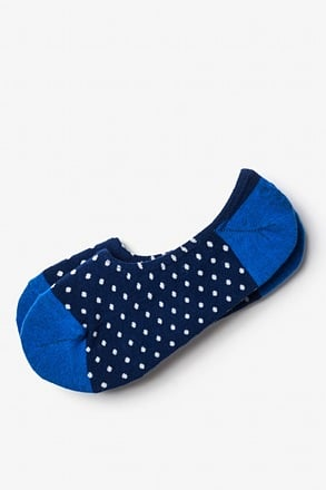 Laguna Polka Dot Blue No-Show Sock