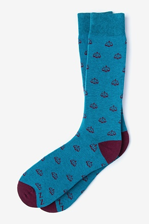 _Lawyer Blue Sock_