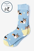 Blue Carded Cotton Life's Ruff Women's Sock