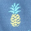 Blue Carded Cotton Pineapples Sock